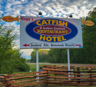 Historic Hagy's Catfish Hotel, Shiloh TN  (731) 689-3327